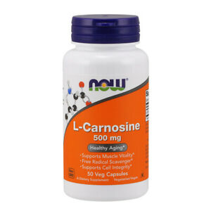 L-Carnosina, 500mg x 50 CAPSULE VEG-Now Foods