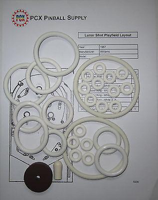 1967 Williams Lunar Shot Pinball Machine Rubber Ring Kit | eBay