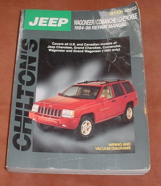 Chilton Repair Manual 1984 Thru 1996 Jeep Cherokee