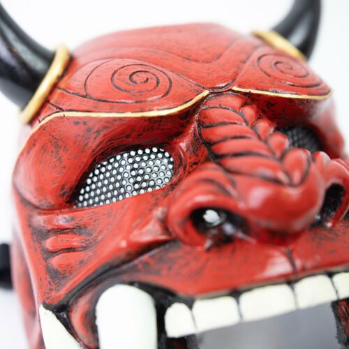 Japanese Samurai Assassin Hannaya Warrior Halloween Mask Onimaru Airsoft Cosplay