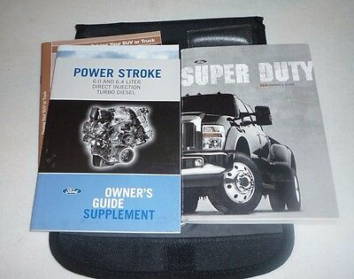 ford  super duty diesel owners manual set  guide