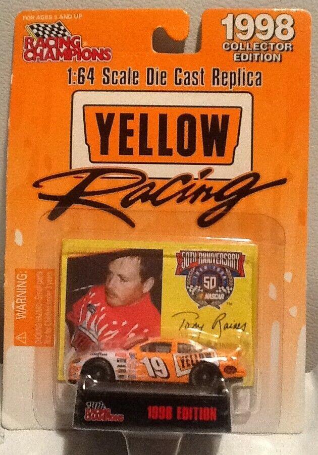 Racing Champions 1998 Yellow Racing Promo Tony Raines orange Car MINT