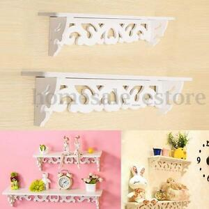 White-Wooden-Wall-Shelf-Display-Hanging-Rack-Storage-Goods-Holder-Home-Decor