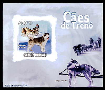 Guinea-bissau Epreuve De Luxe Schlittenhunde Huskies Hund Dogs Deluxe Sheet Dr35 ZuverläSsige Leistung