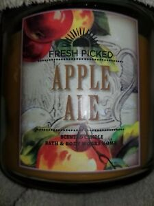 Bath-And-Body-Works-Apple-Ale-14-5-oz-Candle-Rare-Hard-To-Find-HTF