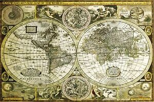 HISTORICAL-WORLD-MAP-POSTER-24x36-GEOGRAPHY-GLOBE-33762