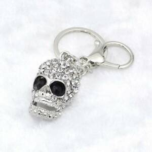 Big-Crystal-Skull-Pendant-Purse-Bag-Ornament-KeyChain-Rhinestone-Keyring