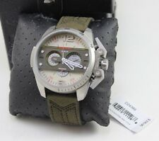 NEW AUTHENTIC DIESEL IRONSIDE SILVER GREEN CHRONOGRAPH MENS DZ4389 WATCH