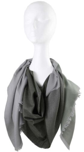 Sciarpa Estate Scialle webschal Strisce /& Two Tone Look-Grigio Verde 100/% COTONE