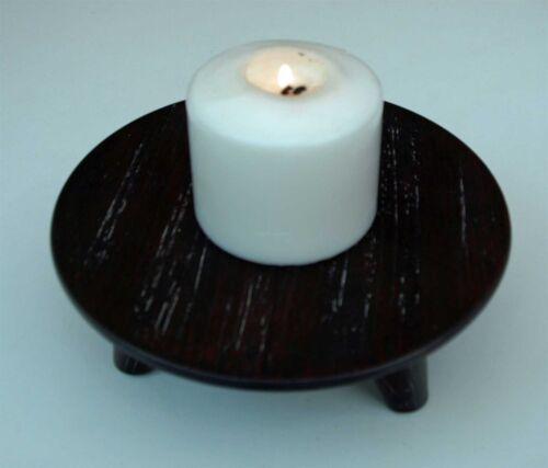 Candle Stick Tea Light Holder en Bois Style Chinois Trépied ou plante pot stand NEUF