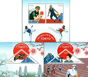 TOKYO-2020-SUMMER-OLYMPICS-NEW-DATE-IN-2021-PING-PONG-BASKETBALL-MNH-STAMPS-SET