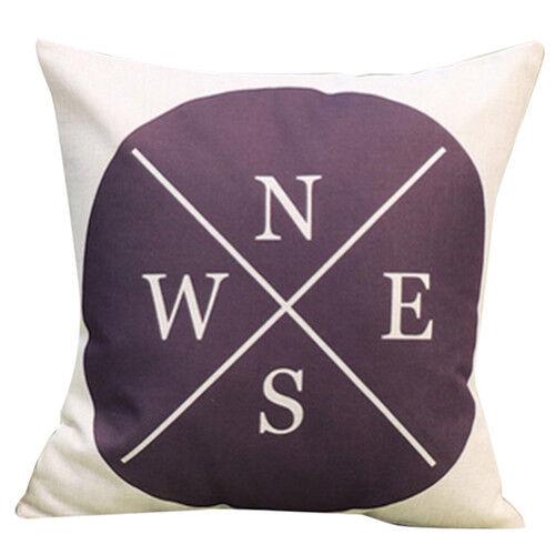 European flax Cushion Cover Throw Pillow Case Sofa Decor English alphabet F C3G2