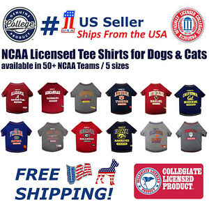 Pets-First-NCAA-Tee-Shirt-for-Dogs-Officially-Licensed-50-Colleges-available