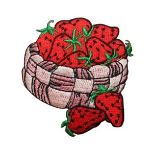 Grapes Fruit Embroidered Iron On Applique Patch Fruit Basket Country