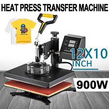 "12""x10"" Digital Heat Press Machine T-Shirt Sublimation 360 Swing Away Transfer"