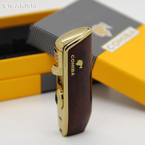 COHIBA-Red-Wood-Pattern-Snake-Mouth-Torch-Jet-Flame-Cigarette-Cigar-Lighter