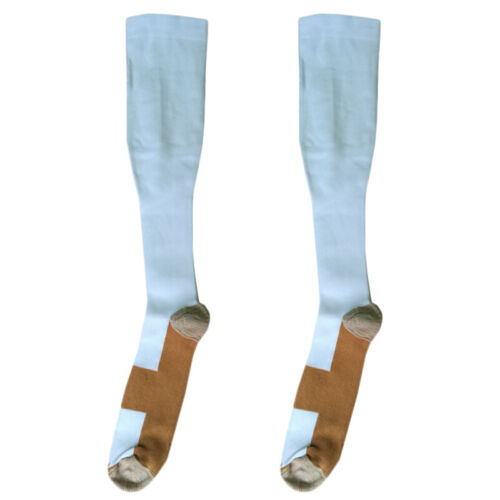 1 Pair Unisex Infused Compression Socks Knee High Sock Running Stocking Football