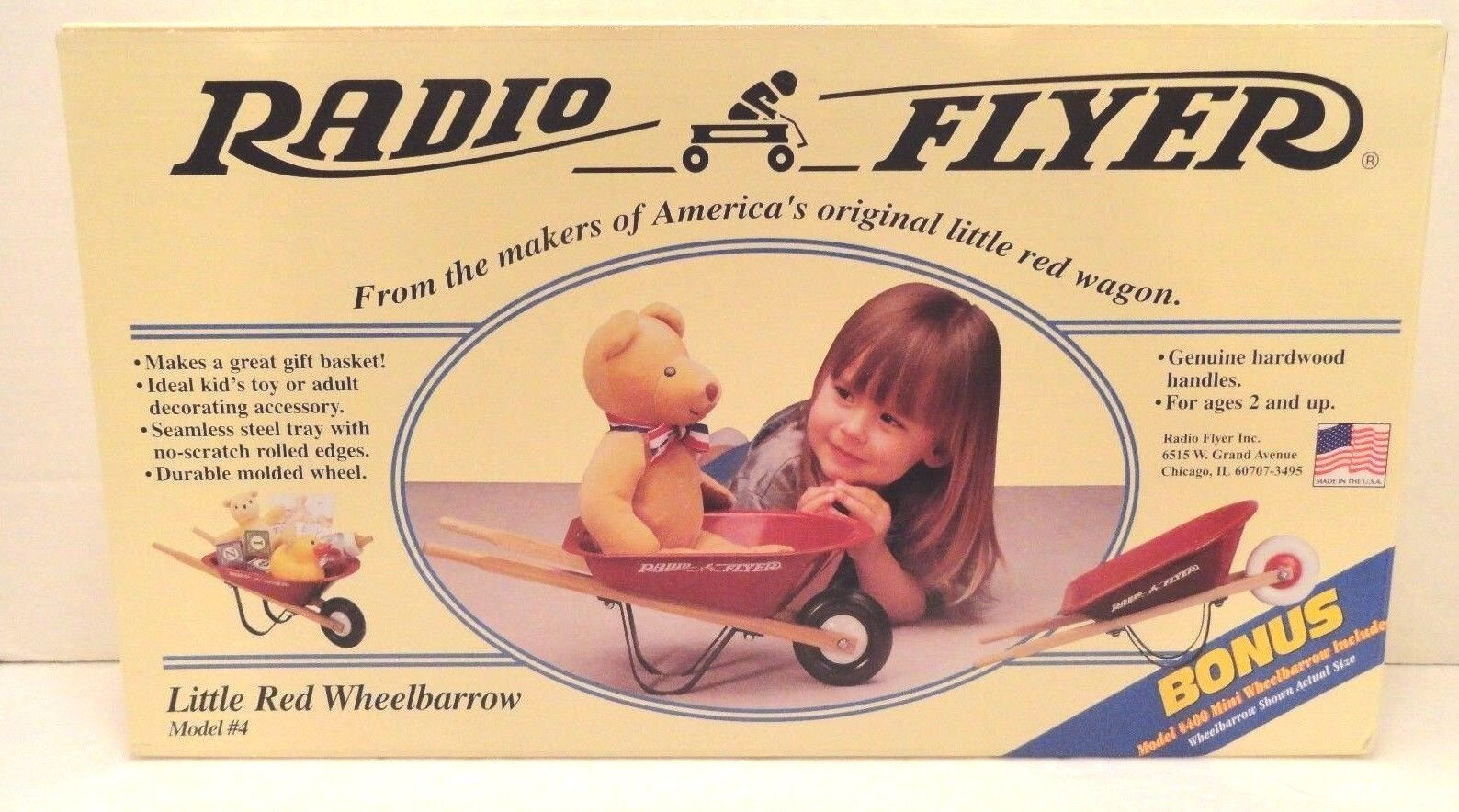 RADIO RADIO RADIO FLYER WHEELBARROW BONUS MINI NEW 3024ac