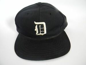 Vintage-1950-039-s-Detroit-Tigers-Wool-Baseball-Cap-Size-7-1-8-Union-Made-in-USA