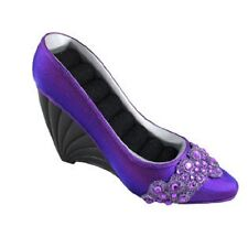 New Jacki Design Dazzling Gem Shoe Ring Holder Purple Wedge JGS22865 Mother gift