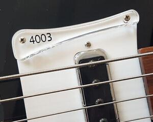 Rickysounds Custom Made Black Pickguard for any Rickenbacker Bass Or Guitar
