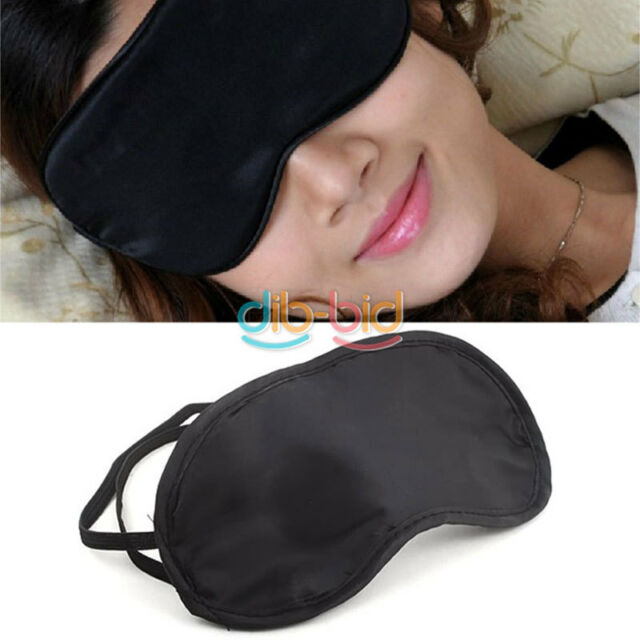 Eye Mask Cover Shade Blindfold Sleeping Travel Black EB