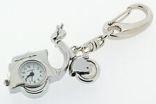 Novelty Scooter Keyring Miniature Clock