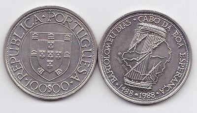 PORTUGAL 1988  100 ESC.  CABO ESPERANZA NI  UNC