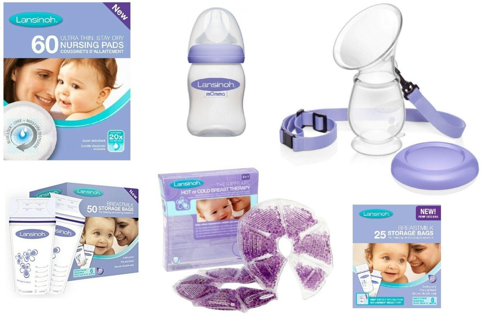 Baby Feeding NEW Lansinoh Plastic Milk Storage Bottles Breast Feeding