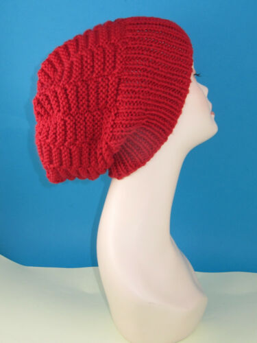 PRINTED KNITTING INSTRUCTIONS CHUNKY BASKET STITCH SLOUCH HAT KNITTING PATTERN
