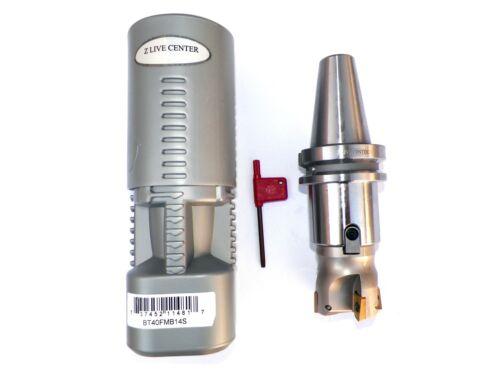 "2/"" Face Shell Mill Cutter 90 Degree 4 Flutes BT40 Face Milling Cutter W Inserts"