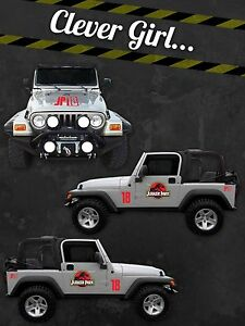 Jurassic Park Custom Jeep Safari Vinyl Decal Sticker KitCANADA EBay - Custom vinyl car decals canada