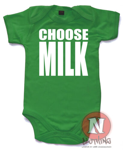 Naughtees Clothing Wählen Milch Lustig Babygrow Baby Anzug Weste Trainspotting