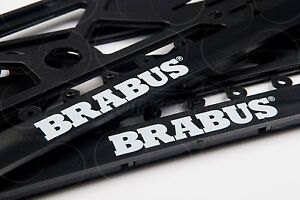 Mercedes benz brabus logo all model frame euro for license for Mercedes benz license plate logo