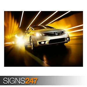 HONDA CIVIC SI (AB426) CAR POSTER - Photo Picture Poster Print Art A0 to A4