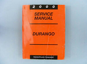 service manual 2000 dodge durango dn 81 370 0016 ebay rh ebay com 2000 Dodge Durango SLT Manual 2000 dodge durango service manual pdf