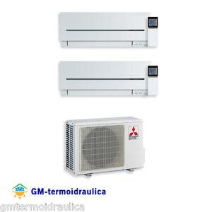 Climatizzatore Condizionatore Inverter Dual Split Mitsubishi SF 7+9 7000+9000