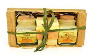 "Sundance Farms - Small Herbal Crate Gift Set ""Lemon Verbena"" (Soap/Bath Salts)"