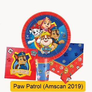 PAW-PATROL-Birthday-Party-Range-Tableware-Supplies-Balloons-Banners-Decorations