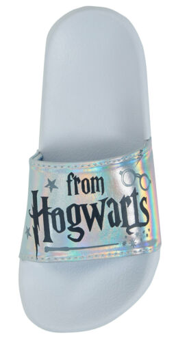 Harry Potter Iridescent Sliders Kids Holographic Summer Holiday Sandals Shoes