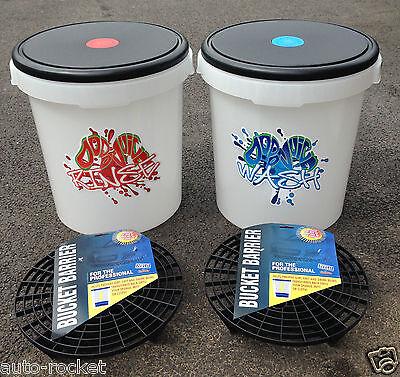 Clear Dodo Juice Grit Guard Buckets & Lids  20 L Buckets Car Wash & Rinse Method