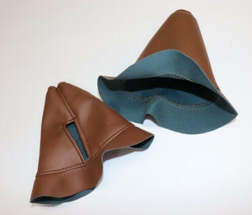 BOOT-Control Stick Socket Pair of Brown Vinyl Aeronca Style 7 Series