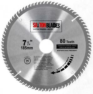 Saxton tct circular saw blade 185mm x 80t bosch makita dewalt fits image is loading saxton tct circular saw blade 185mm x 80t greentooth Images