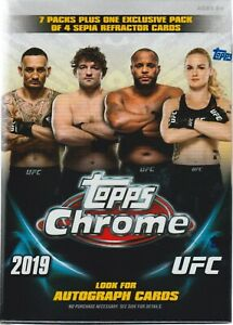2019-Topps-UFC-CHROME-MMA-Trading-Cards-7-1-Bonus-Pack-VALUE-BLASTER-Box