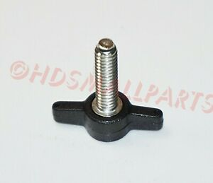 1//4-20 x 1 Thumb Screws with Tee//Wing Butterfly Thumb Screws Black 12