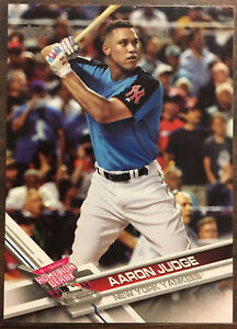 Details About 2017 Topps Update Hrd Aaron Judge Rookie Card New York Yankees Rc Hot 2017 Roy