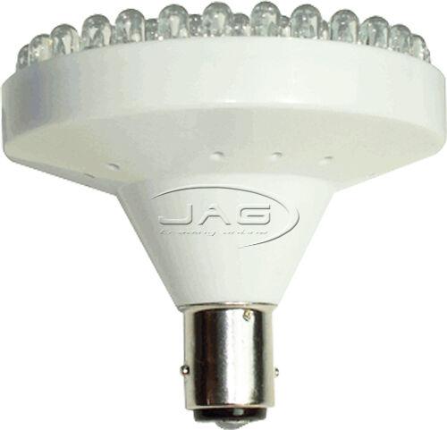 Caravan//Boat//Ceiling//Cabin//Bike//Auto 12V 82-LED WHITE LIGHT BA15S 1156 GLOBE