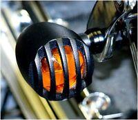Mini Blinker Bullet schwarz Harley davidson softail slim deuce deluxe custom