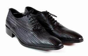 Ivan Troy Black  Handmade Men Italian Leather Dress Shoes/Oxford Shoes 41