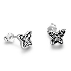 26f599981 0.5 Ct Round Diamond Women's Butterfly Stud Earrings 10k White Gold ...